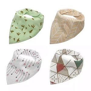 Arrows and Birds Baby Bibs Bandana Gift Set
